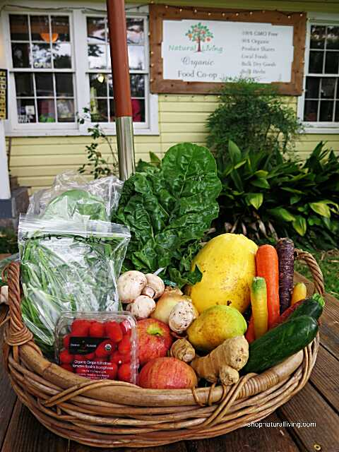 Picture of small produce share at Natural Living Food Co-op and Cafe